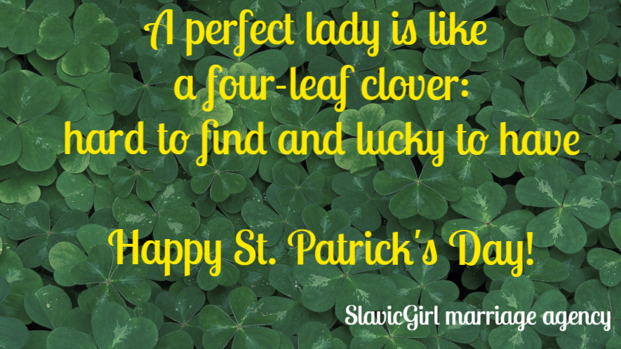 Slavic Girl team wishes you happy St. Patrick's Day