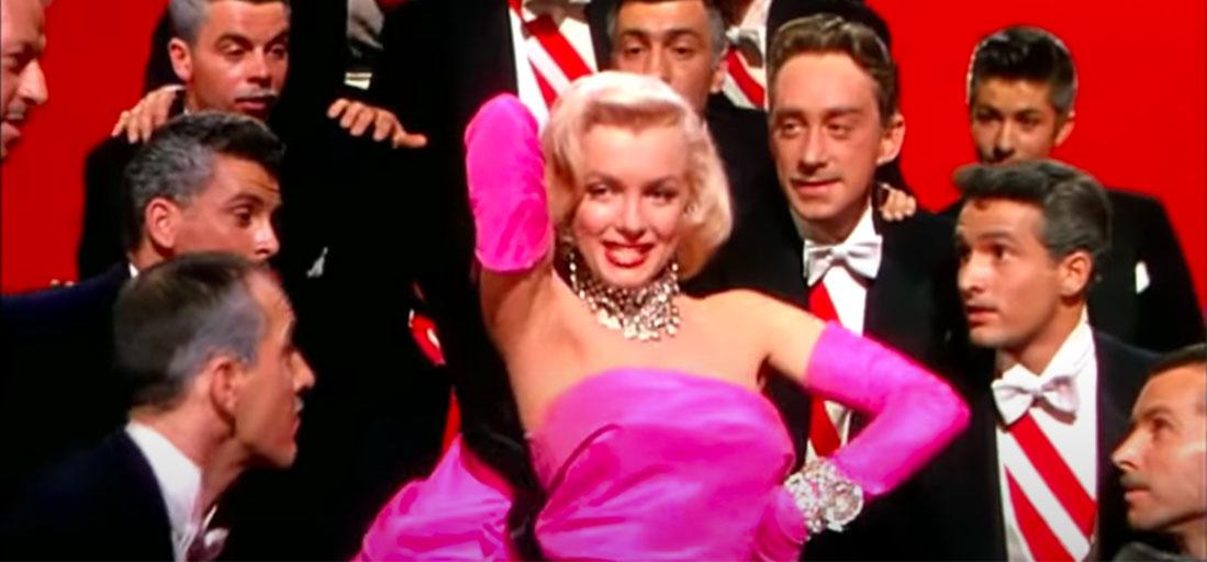 Blond girl Marilyn Monroe